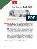 Discipling Spiritual Leaders Mar 8-14