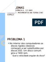 PROBLEMAS FÍSICA - 11º ANO - UNIDADE 1