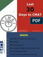 Last30 Days to CMAT Upload