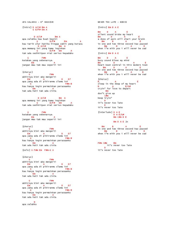 Ebook Kumpulan Chord Lagu