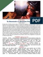 La anunciación a la Virgen. 25 de marzo. Forma Extraordinaria del Rito Romano