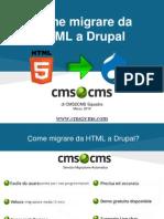 Come migrare da HTML a Drupal