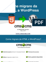 Come migrare da HTML a WordPress