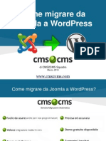 Come migrare da Joomla a WordPress
