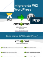 Come migrare da WiX a WordPress