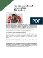 Recomendaciones de Salud Mental para explicar catástrofes a niños