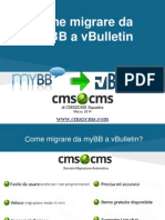 Come migrare da myBB to vBulletin