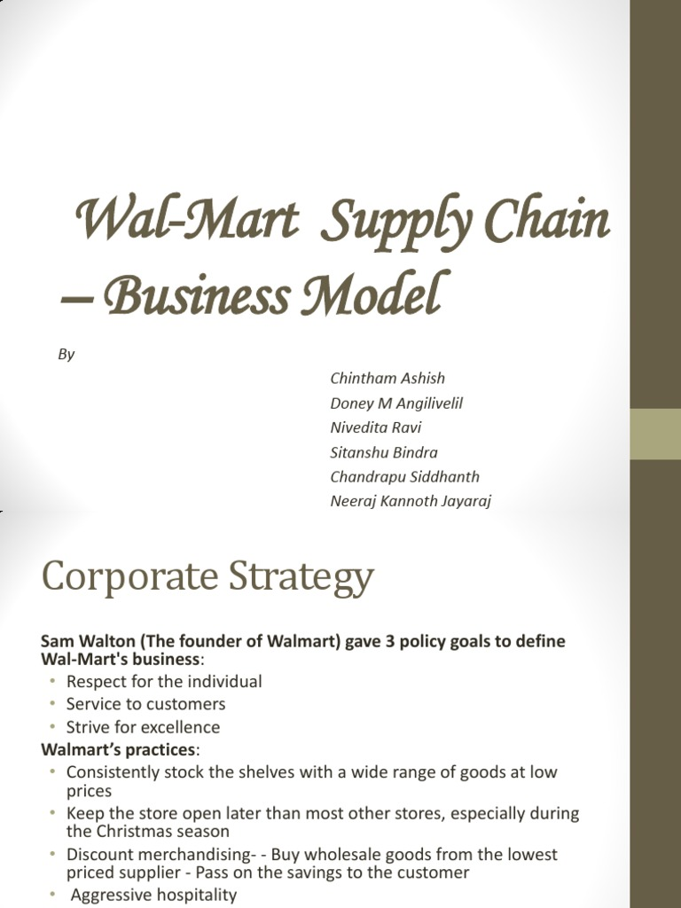 Wal-Mart Supply Chain - Business Model   Walmart   Inventory