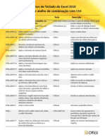 Excel 2010 Teclas de Atalho