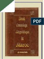 Droit,Criminologie Et Geopolitique Au Maroc