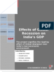 A Report OnEffect of Global Recession on India GDP