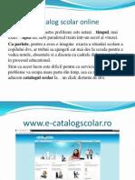 Catalog Scolar Online