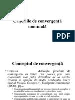 Curs_11. Criteriile de Convergenta Nominala Si Reala