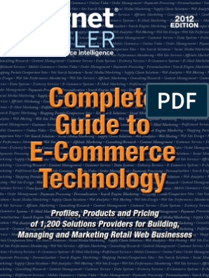 Complete Guide to E-Commerce Technology | E Commerce | Online Shopping