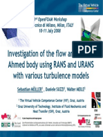Investigation of the Flow Around the Ahmed Body Using RANS and URANS With Varios Turbulence Models