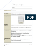 Job Description on Roll FSO