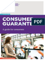 consumer guarantees a guide for consumers