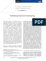 Rethinking Maternal Gatekeeping Puhlman Pasley