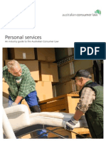 personal services - an industry guide to the australian consumer law