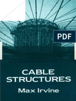 H. Max Irvine Cable Structures Structural Mechanics 1981