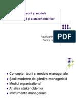 Management - Teorii, Mediu, Stakeholderi
