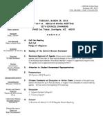 Southgate Board of Education Agenda March 25, 2014