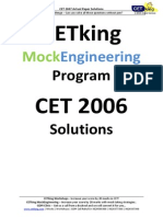 CET 2007 Solutions