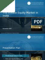 Evalueserve Private Equity Market in India Nov 2007
