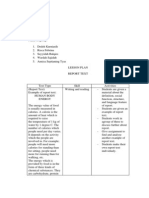 Lesson Plan (Seminar)