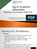 Academic Fellowships Writing a CV