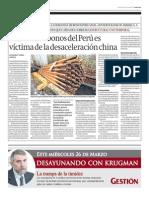 Mercado bonos Perú víctima desaceleración china_Gestión 25-03-2014