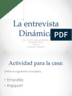 Psicología Dinámica-La entrevista 2