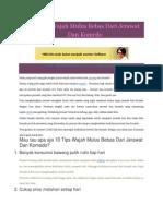 10 Tips Wajah Mulus Bebas Dari Jerawat Dan Komedo