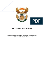 Legislative Acts - PFMA - Normative Measures for Financial Management Phase 1 - Perfecting the Basics