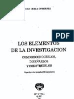 Metodo y diseño_Los elementos de la investigacion