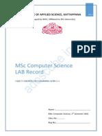 MSc Computer Science 1st Sem Lab Record