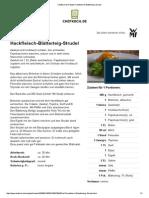Hackfleisch-Blätterteig-Strudel