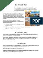 Los climas del Perú.trabajo