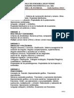 programa matemática 2013