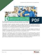 Los servicios un sector dinámico en la economía