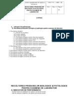 Recoltarea Produselor Bilogice Pt.laborator