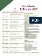 february 2008 schedule