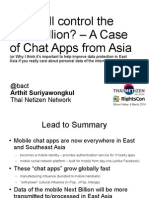Who will control the Next Billion? – A Case of Chat Apps from Asia