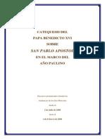 Benedicto XVI Catequesis Paulina
