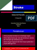 Kuliah Stroke - dr. Esdras Pramudita, Sp. S FK UKDW