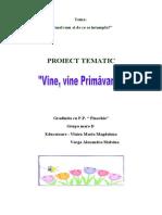 proiect tematic primavara