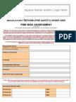 Ver 2.0 TEMPLATE FIRE RISK ASSESSMENT