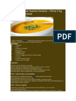 Receita de Sopa Queima Gordura