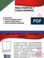 Empresa Puertas y Ventanas Barrios