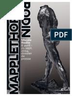 Exposition Mapplethorpe-Rodin - dossier de presse
